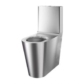 Delabie 110790 MONOBLOCO 700 DDA Back-to-Wall Floorstanding WC Pan with Cistern
